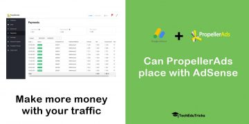 Can PropellerAds place with AdSense