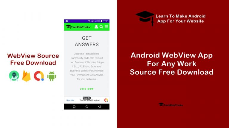 Android WebView App For Any Work - Source Free Download