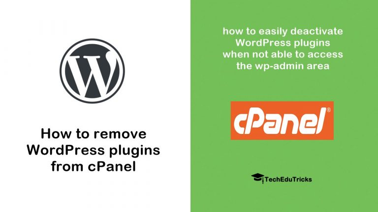How to remove WordPress plugin from cPanel