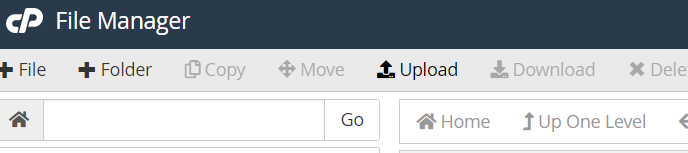 upload to cpanel
