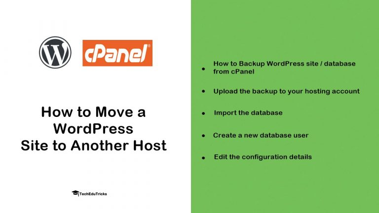 How to Move a WordPress Site to Another Host