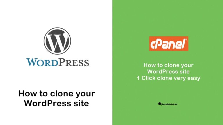 How to clone your WordPress site - 1 Click clone very easy