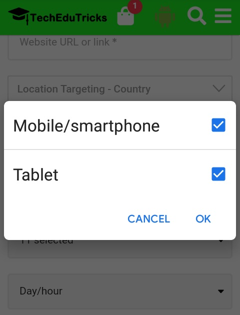 Device Type Targeting Mobile