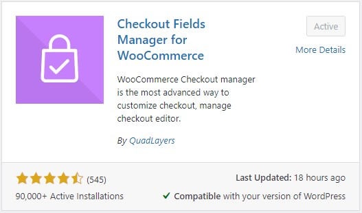Checkout Fields Manager for WooCommerce