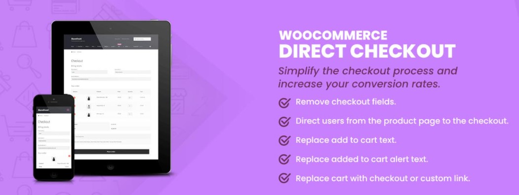 Direct Checkout for WooCommerce plugin dashboard