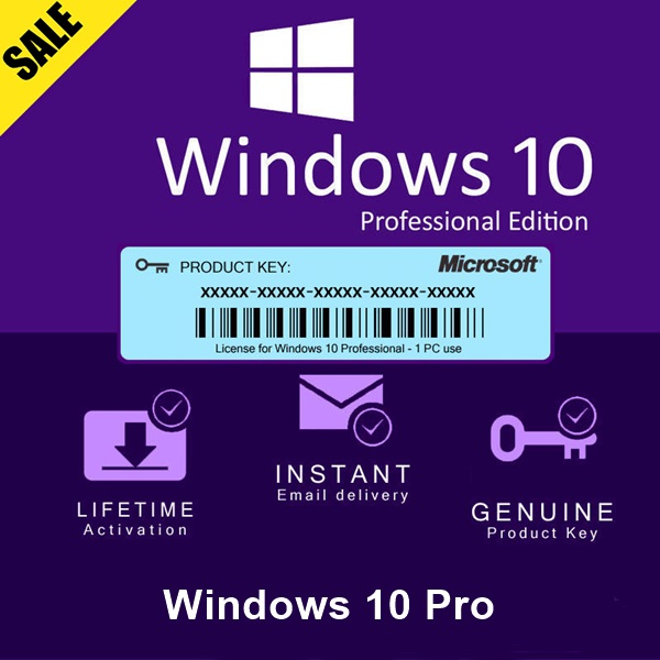 Windows-10 Pro Activation Key 32 And 64 bits Global All Languages